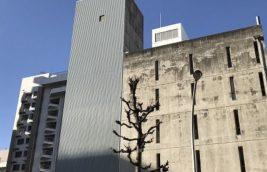 機械式タワー型立体駐車場<br>外壁改修工事<br>(名古屋市中区)
