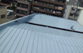 賃貸アパート 屋根塗装工事<br>(名古屋市東区)