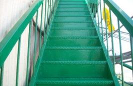 工場 外部鉄骨階段塗装<br>(愛知県北名古屋市)