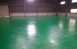 倉庫工場 薄膜水性床塗装<br>(愛知県一宮市)
